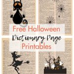 Free Halloween Dictionary Page Printables