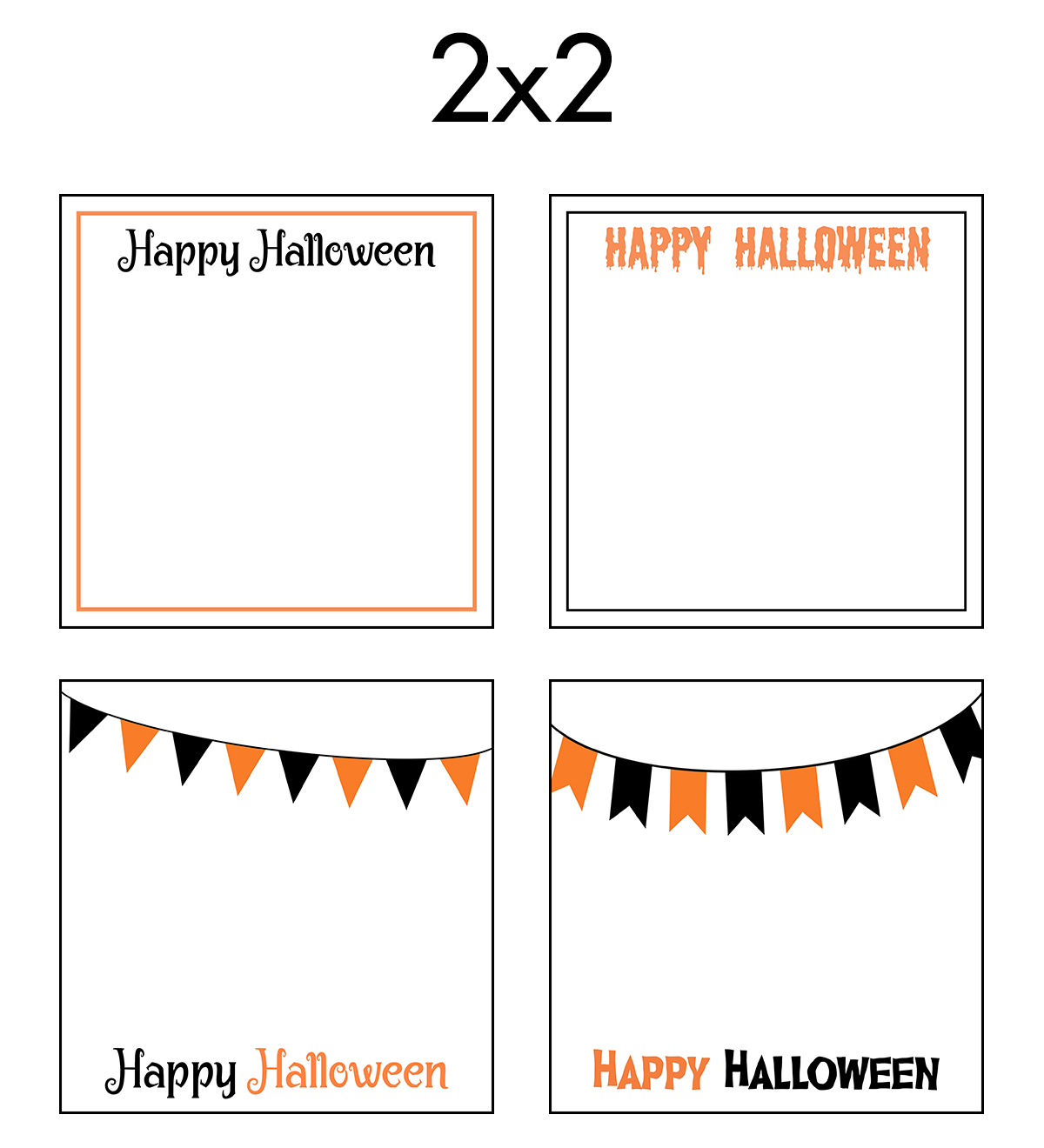 Free Printable 2x2 Halloween Earring Cards