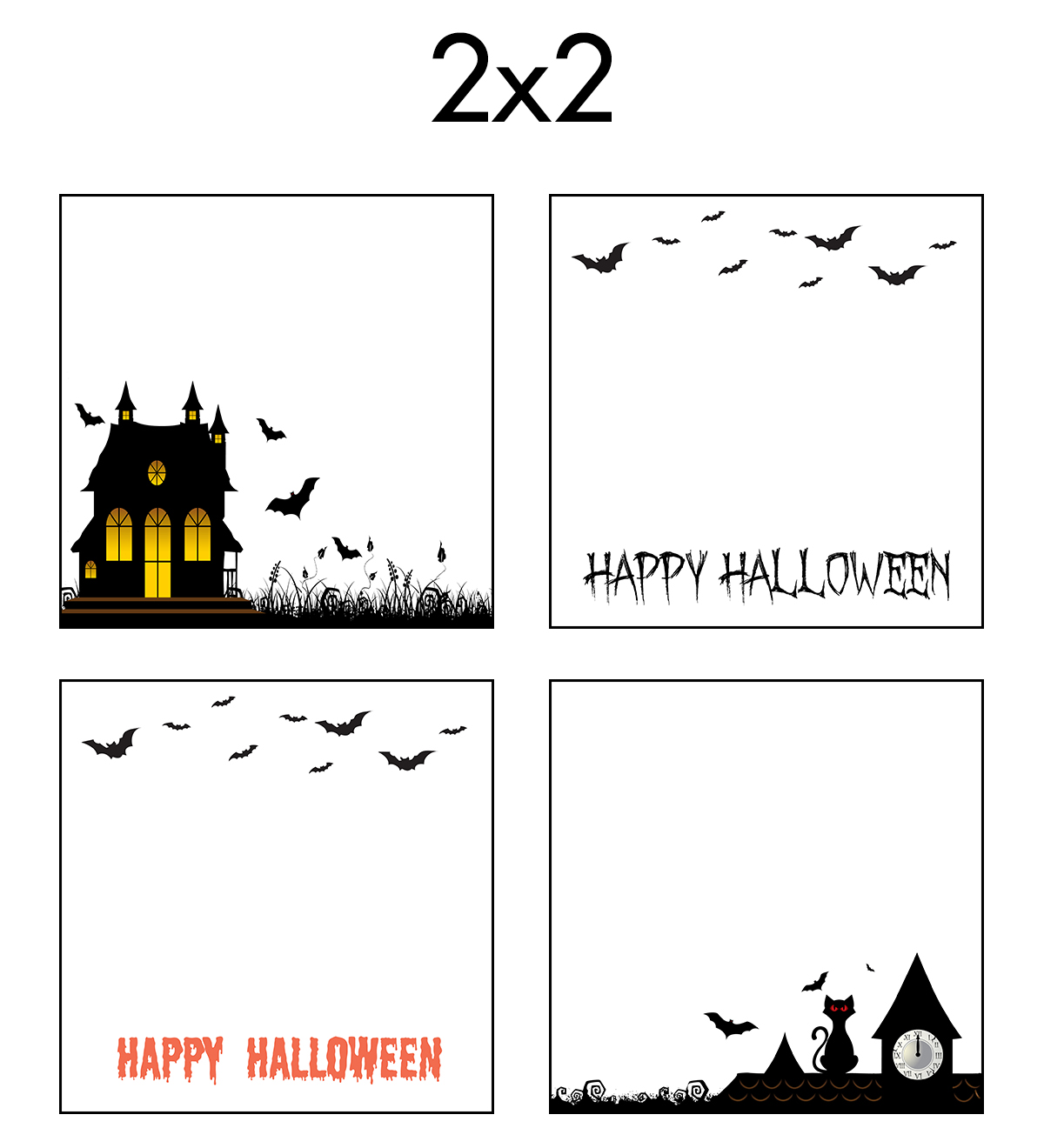Free Printable 2x2 Halloween Earring Cards Collage