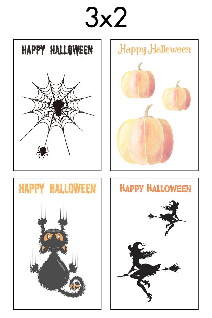 Free Printable 3x2 Halloween Earring Cards