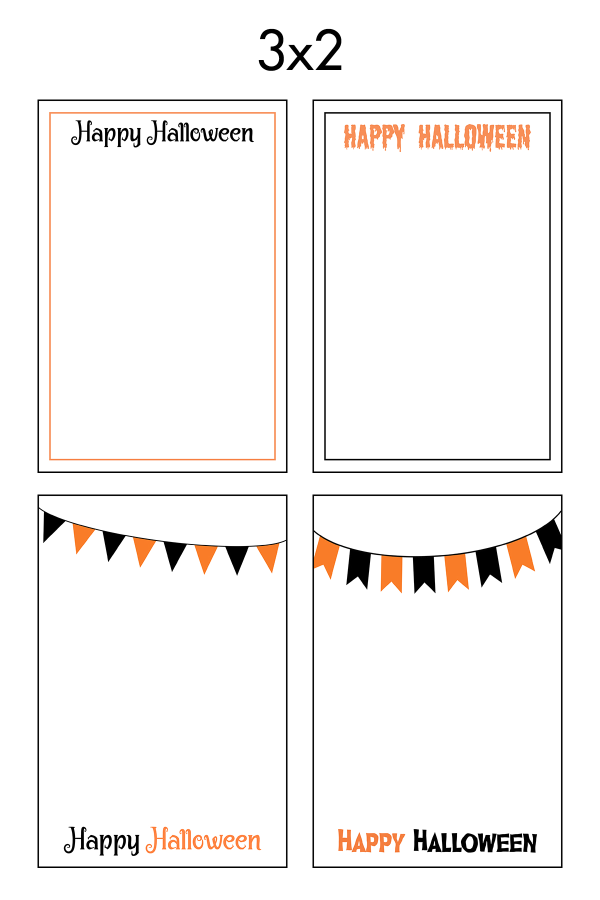 Free Printable 3x2 Halloween Earring Cards Collage