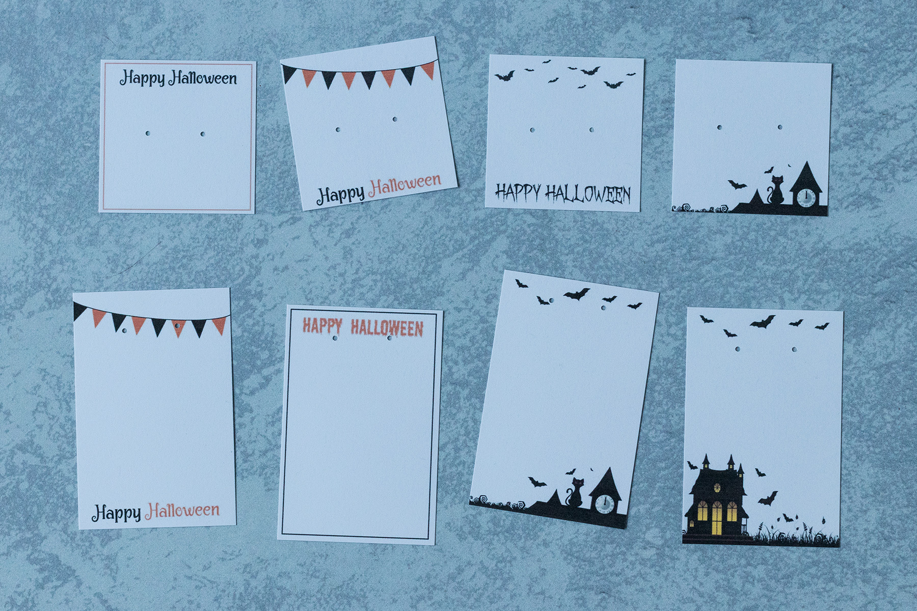 Free Printable Halloween Earring Cards Instructions