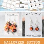 Halloween Button Earrings Tutorial