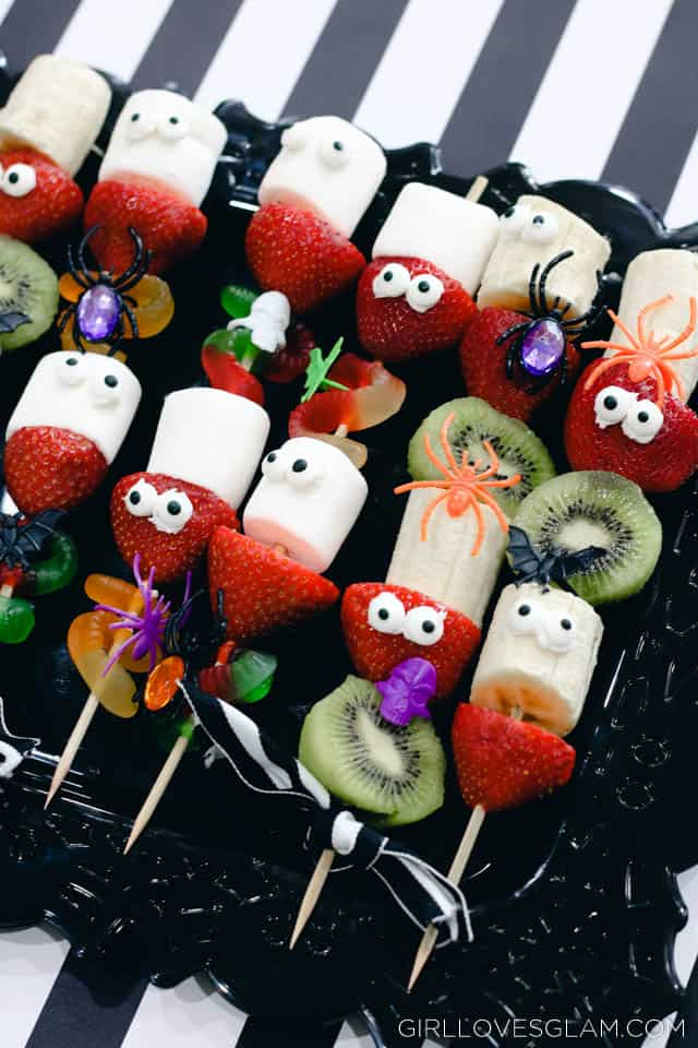 Halloween Fruit Skewers Girl Loves Glam