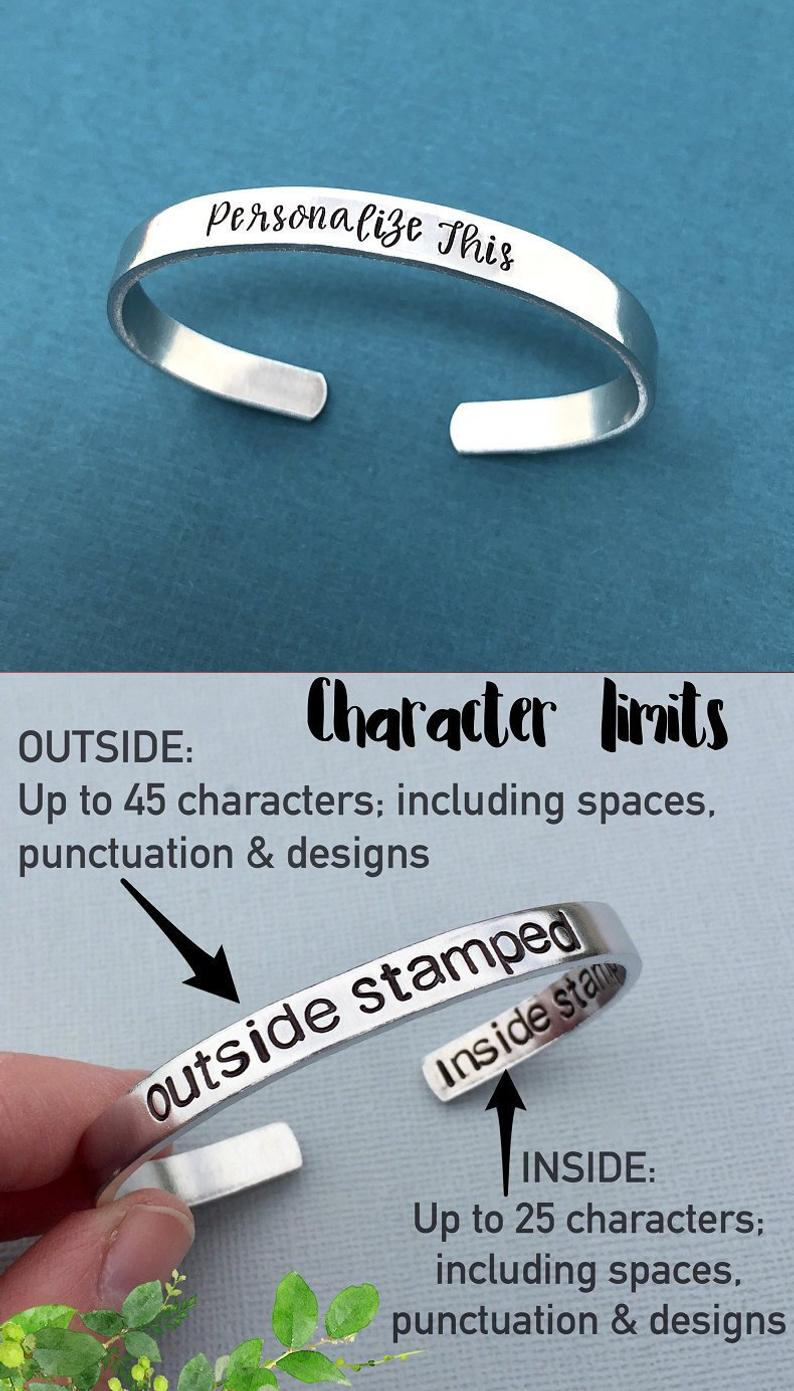 Hand Stamped Bracelet StampedExpressionsCo on Etsy