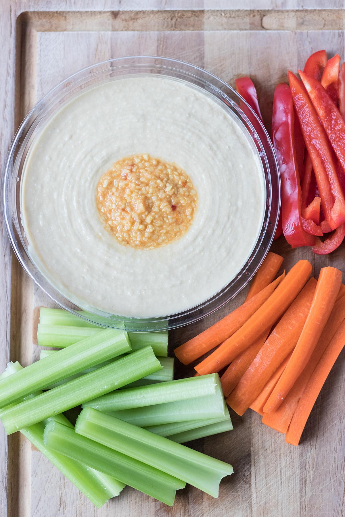 Raw Veggies and Hummus