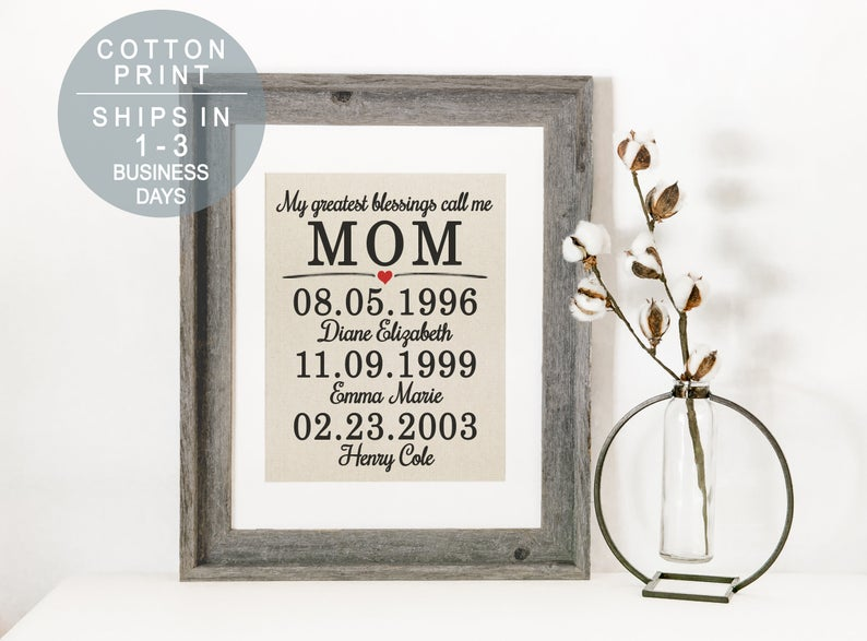 My Greatest Blessings Call Me Mom Sign nestNbranch on Etsy