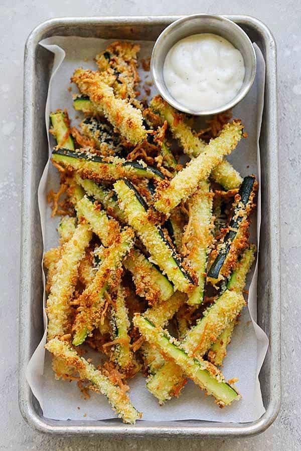 Parmesan Zucchini Fries Rasa Malaysia