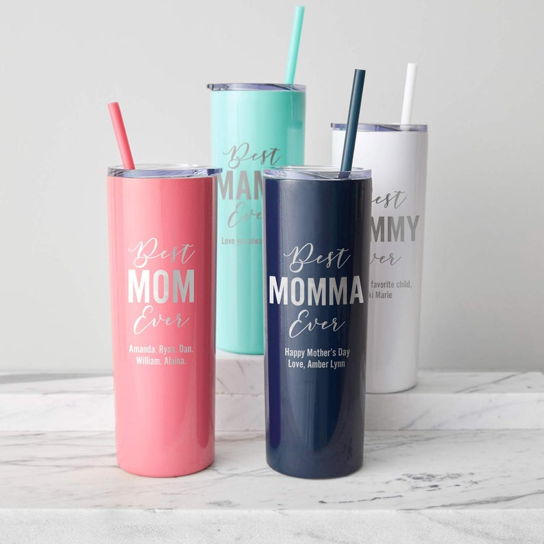 Personalized Best Mom Ever Tumbler LifetimeCreations
