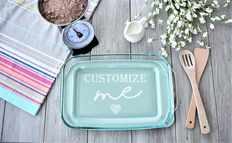 Personalized Pyrex Casserole Dish RusticRouteDesigns on Etsy