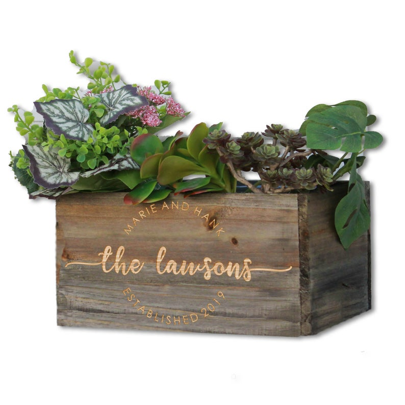 Personalized Wooden Planter Box EngraveOutlet on Etsy