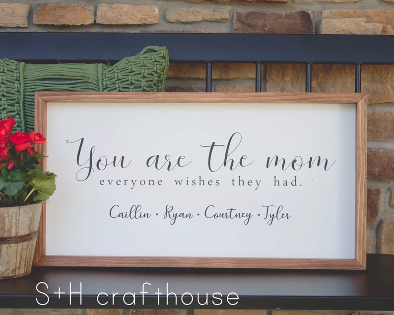 Personalized You are the Mom Everyone Wishes They Had Sign SandHcrafthouse on Etsy