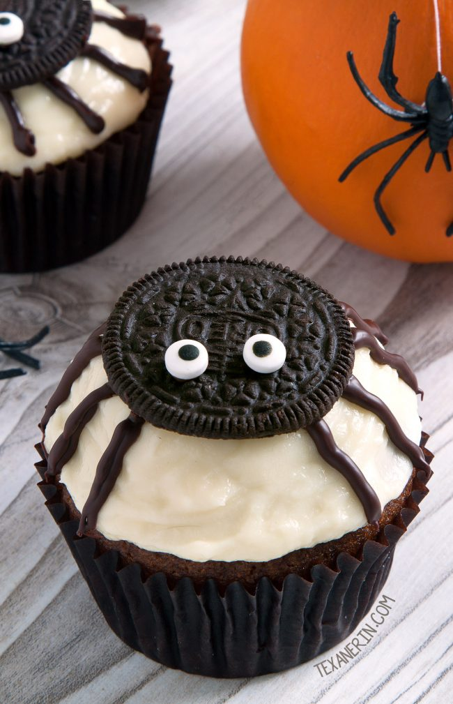 Spider Cupcakes for Halloween Texanerin Baking
