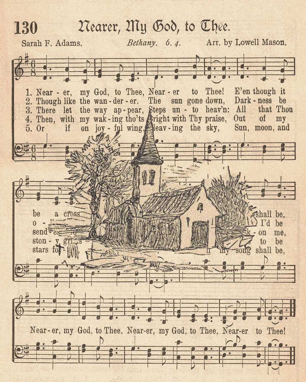 The American Hymnal Nearer My God to Thee with Church