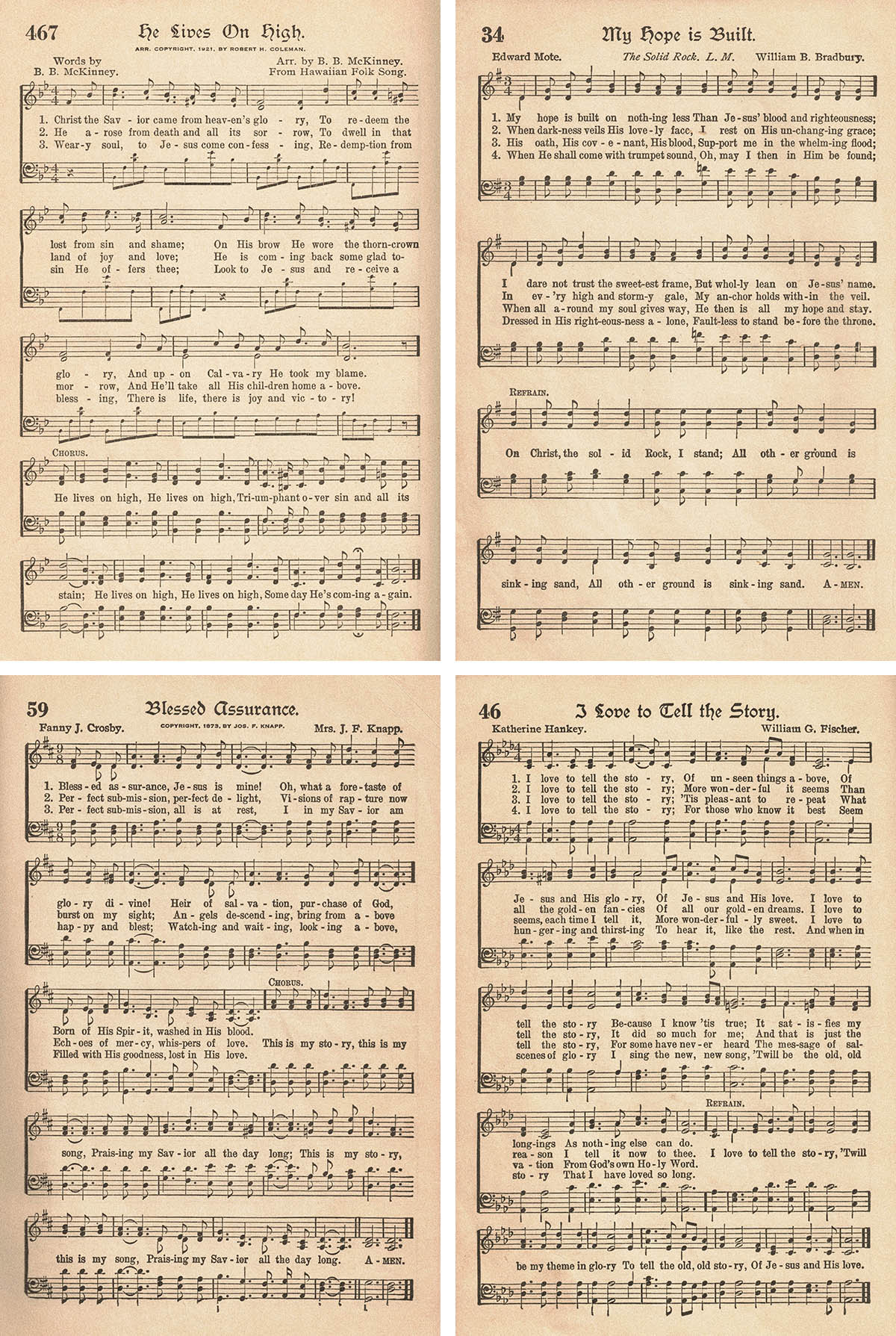 The American Hymnal Vintage Hymns Sheet Music