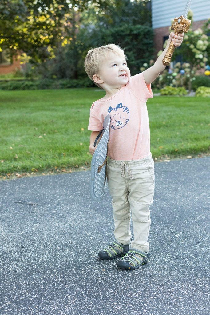 Toddler With Toy Sword
