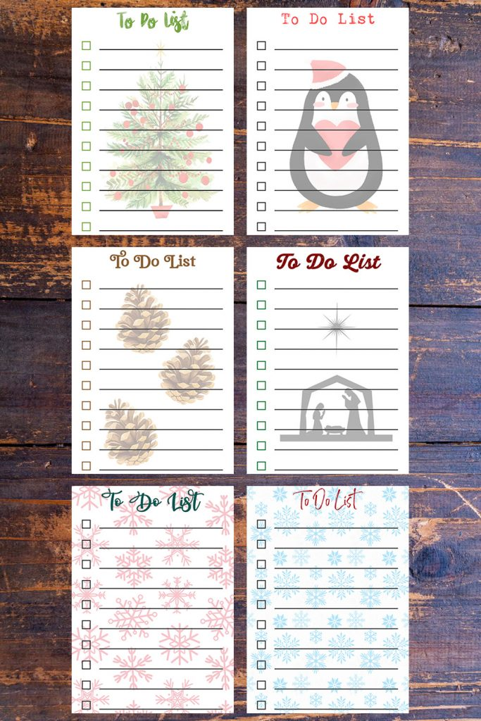 5 x 7 Free Printable Holiday To-Do Lists
