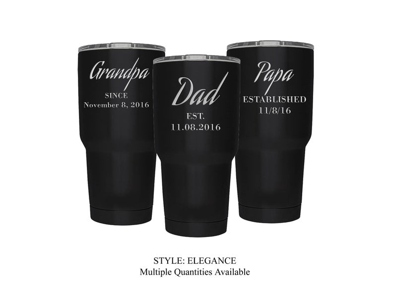 Black Stainless Steel Tumbler Personalized for Dad MakeitspecialStudio on Etsy