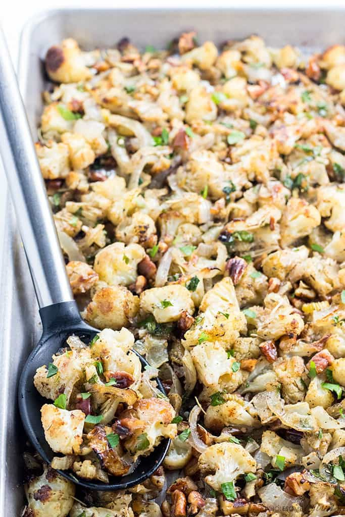 Cauliflower Stuffing Wholesome Yum