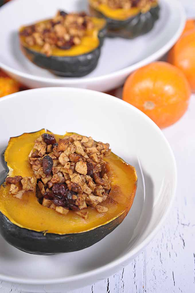 Cranberry Apple and Walnut Stuffed Acorn Squash Foodal