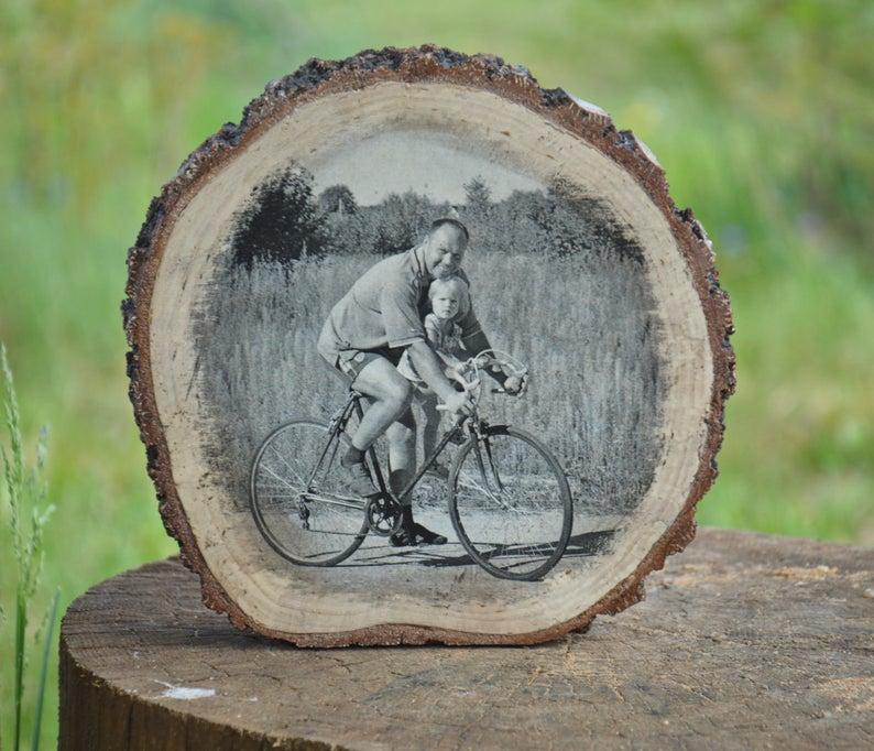 Custom Wood Slice Photo WoodenHouseArt on Etsy