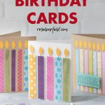 DIY Easy Candle Birthday Cards