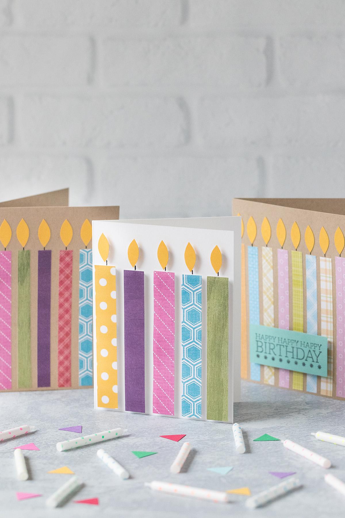 DIY Easy Candle Birthday Cards