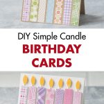 DIY Simple Candle Birthday Cards