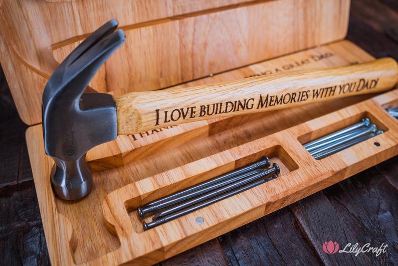 Engraved Hammer LilyCraftAu on Etsy