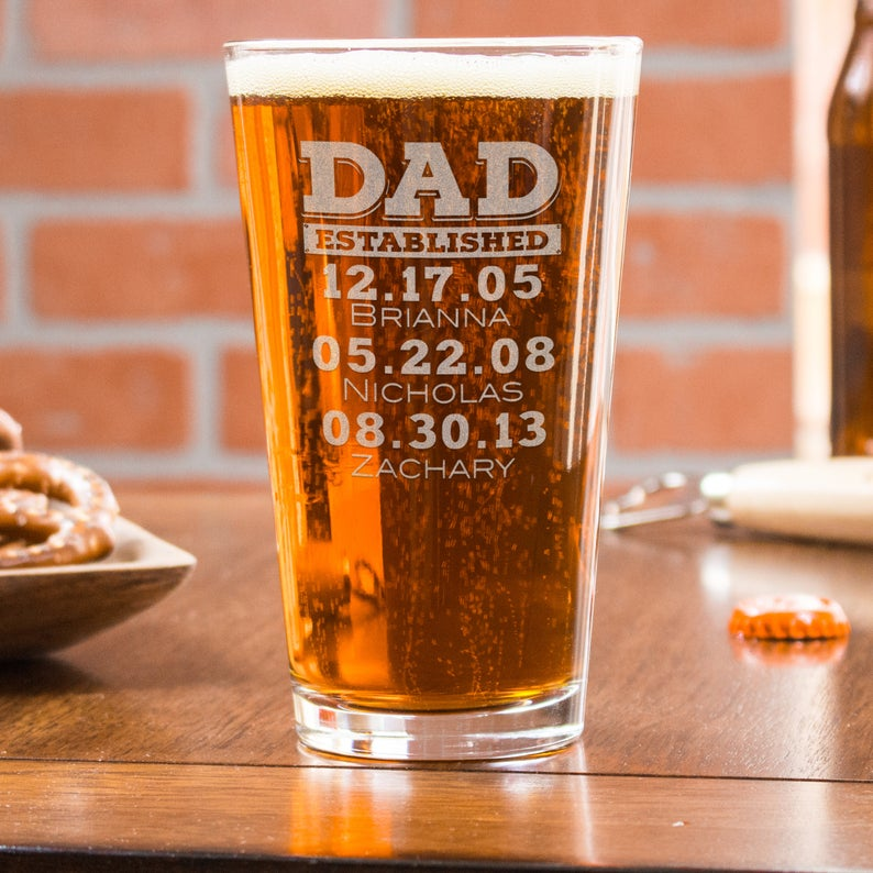 Etched Pint Glass EverythingEtchedAZ on Etsy