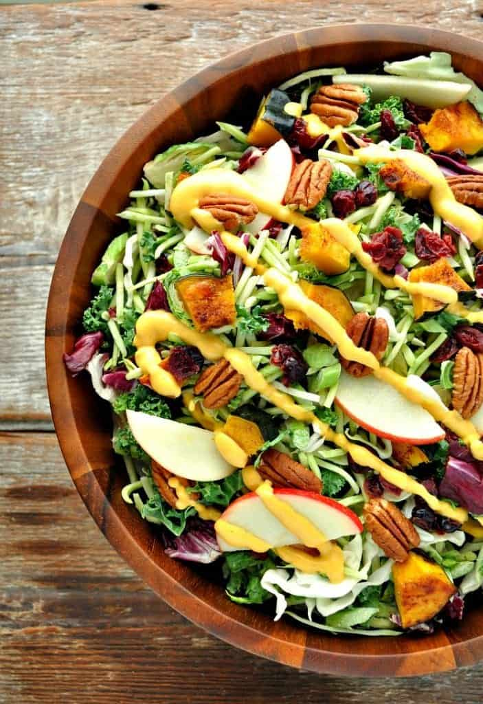 Fall Harvest Salad with Pumpkin Goddess Dressing The Seasoned Mom