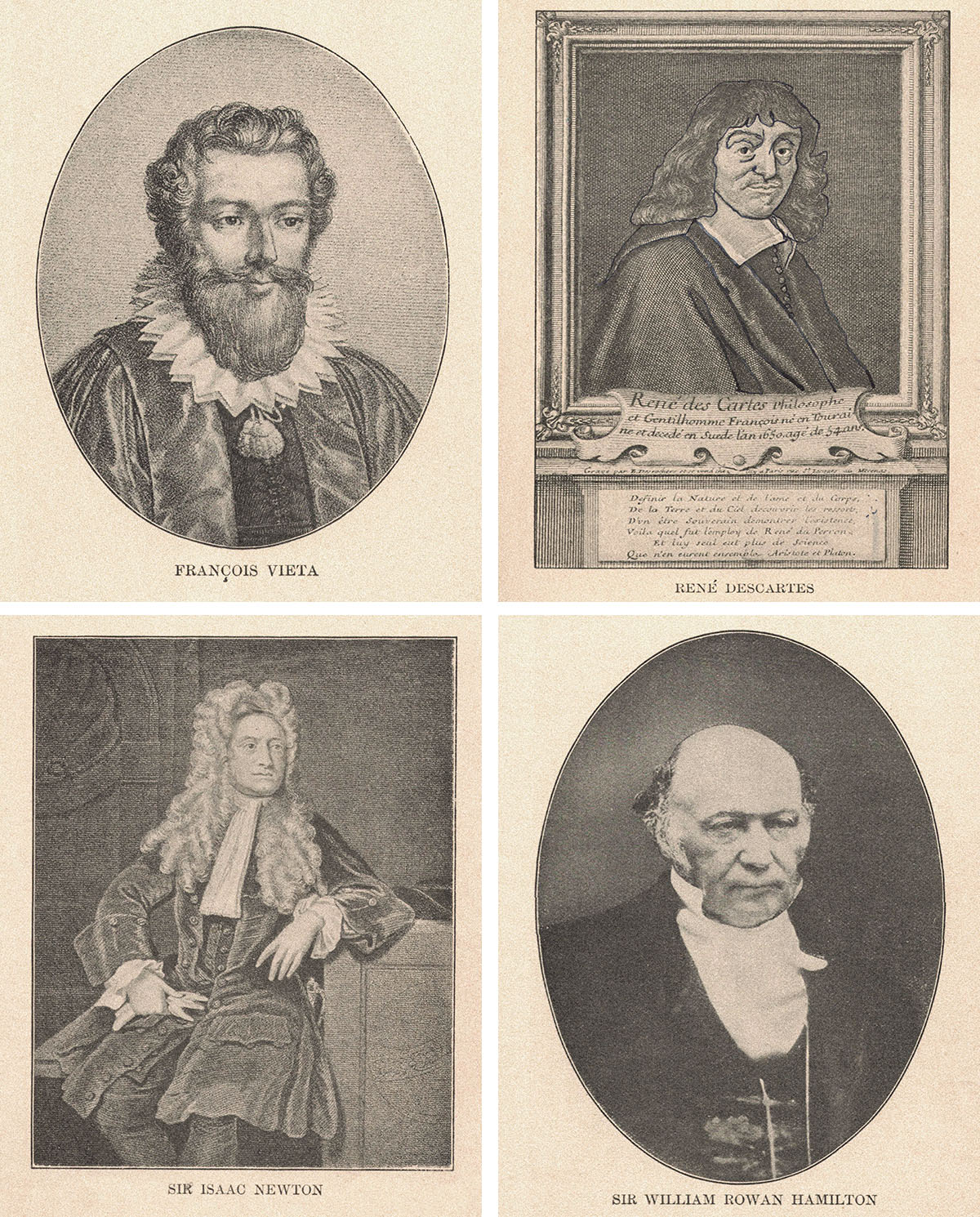 Famous Mathematicians Illustrations Collage