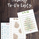 Free Printable Holiday To-Do Lists