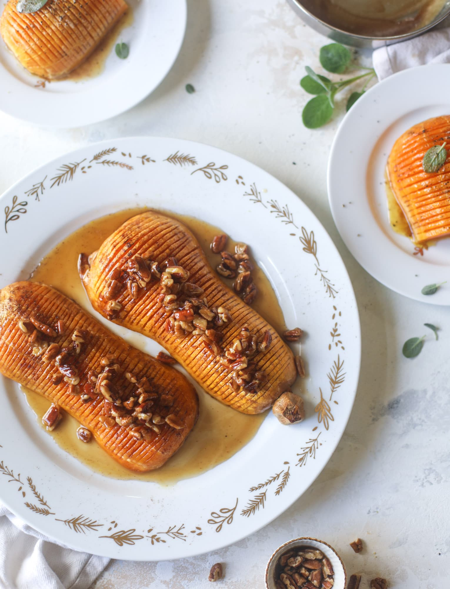 Hasselback Butternut Squash How Sweet Eats