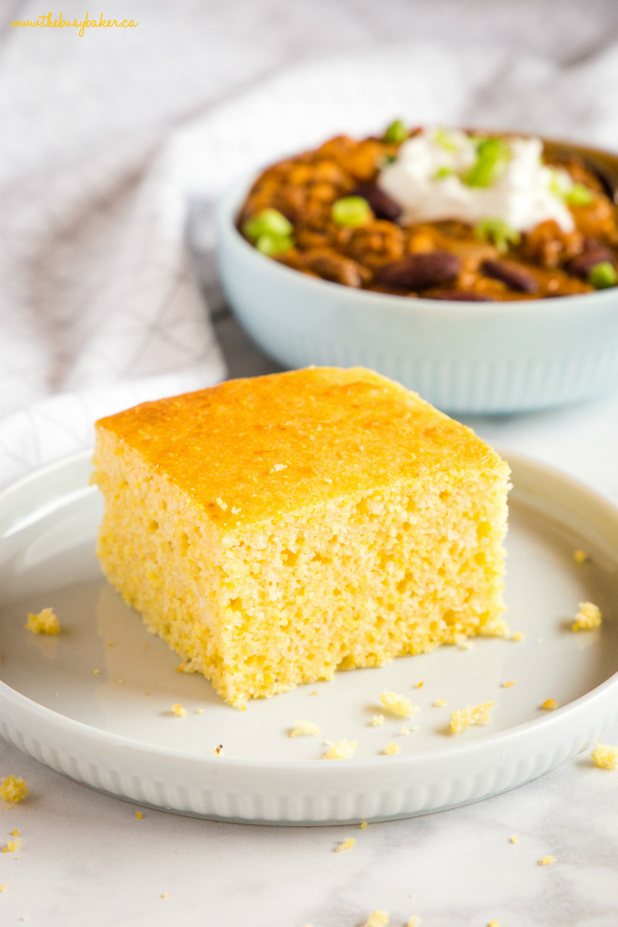 Healthier Low Fat Cornbread The Busy Baker