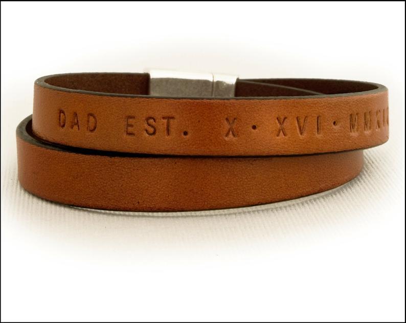 Leather Bracelet EdgeOfNow on Etsy