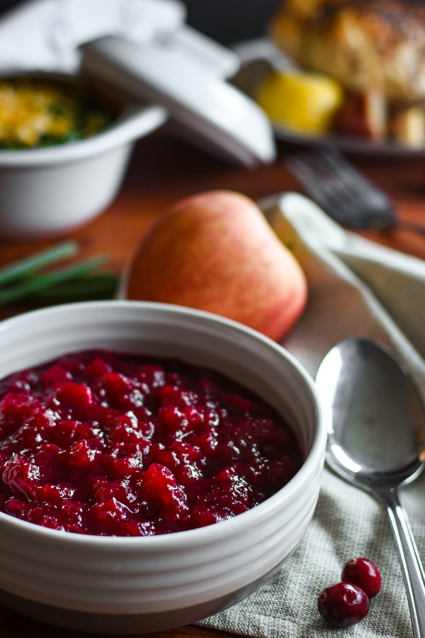 Low Sugar Apple Cranberry Sauce The Foodie and the Fix