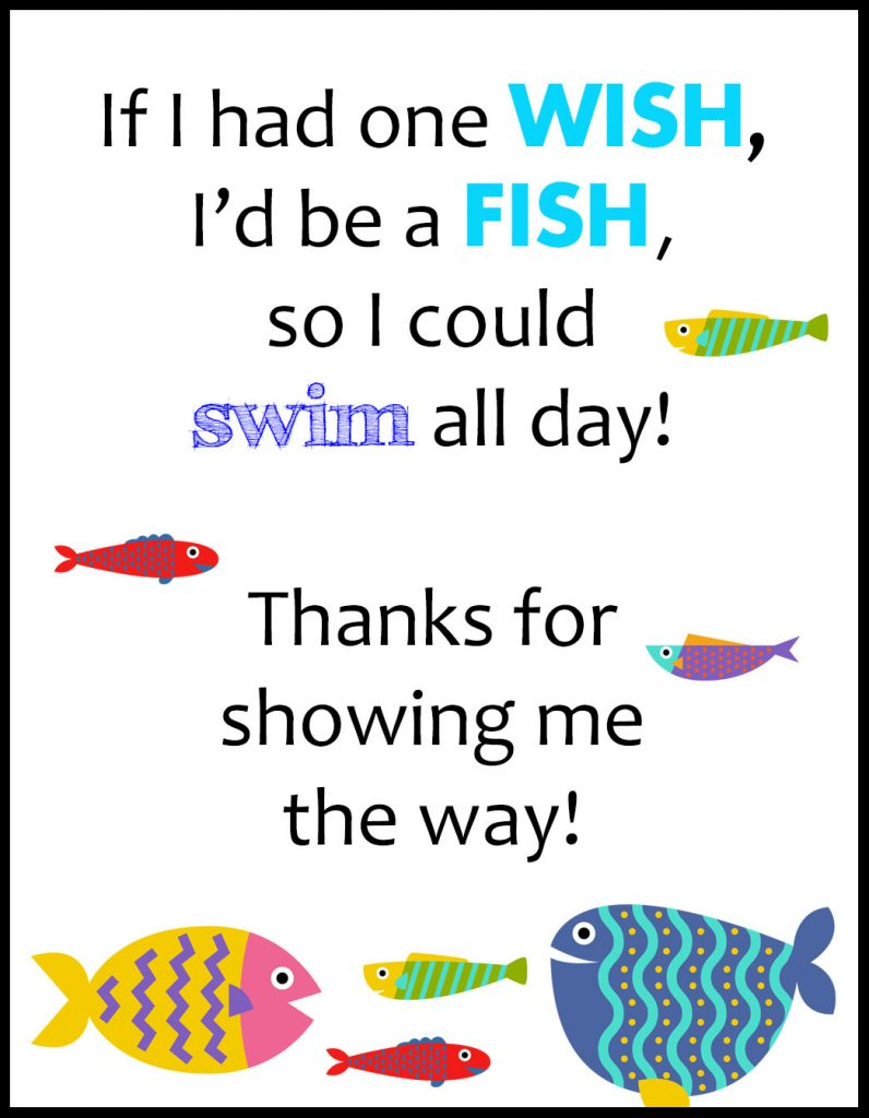 One Wish Swim Teacher Coach A2 Card Flat With Border
