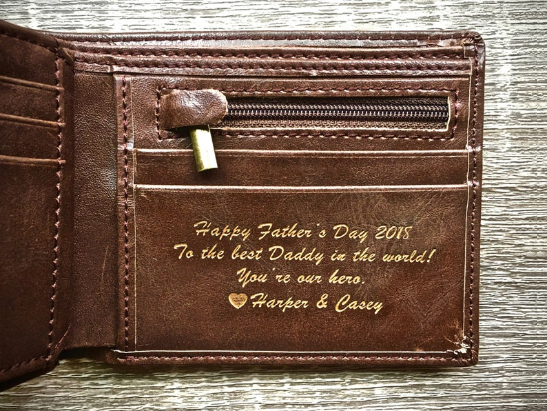 Personalized Men's Leather Wallet SwankyBadger on Etsy