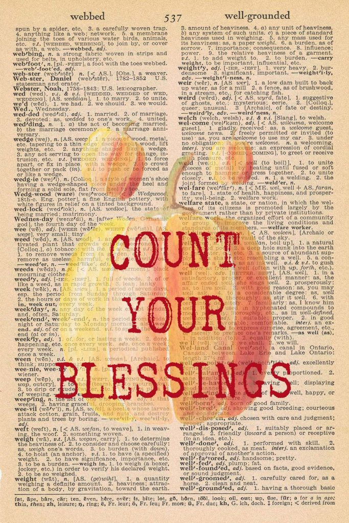Printable Thanksgiving Dictionary Page Count Your Blessings
