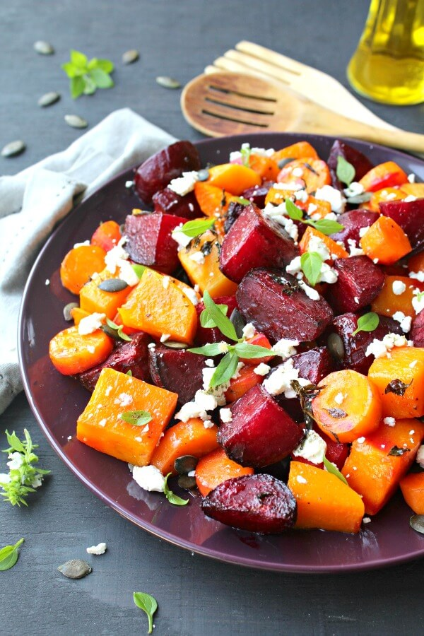 Roast Beet Butternut Basil Goat Cheese Salad Berry Sweet Life
