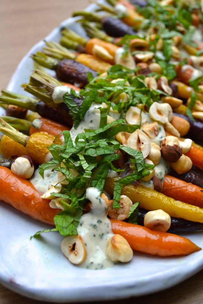 Roasted Carrots with Mint and Tahini Sauce Every Last Bite