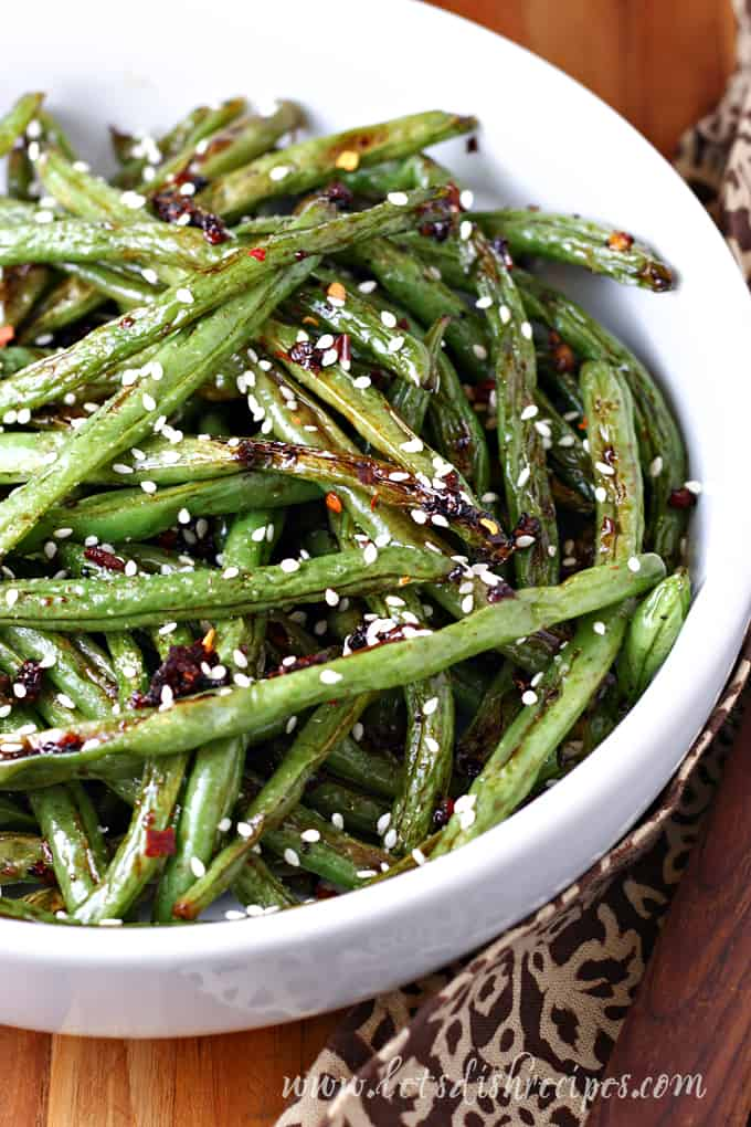 Spicy Roasted Asian Green Beans Let's Dish Recipes