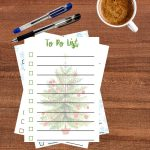 Stack of Printable Holiday To-Do Lists