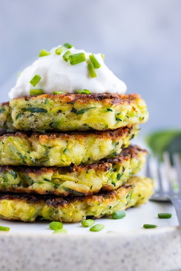 Zucchini Fritters Evolving Table