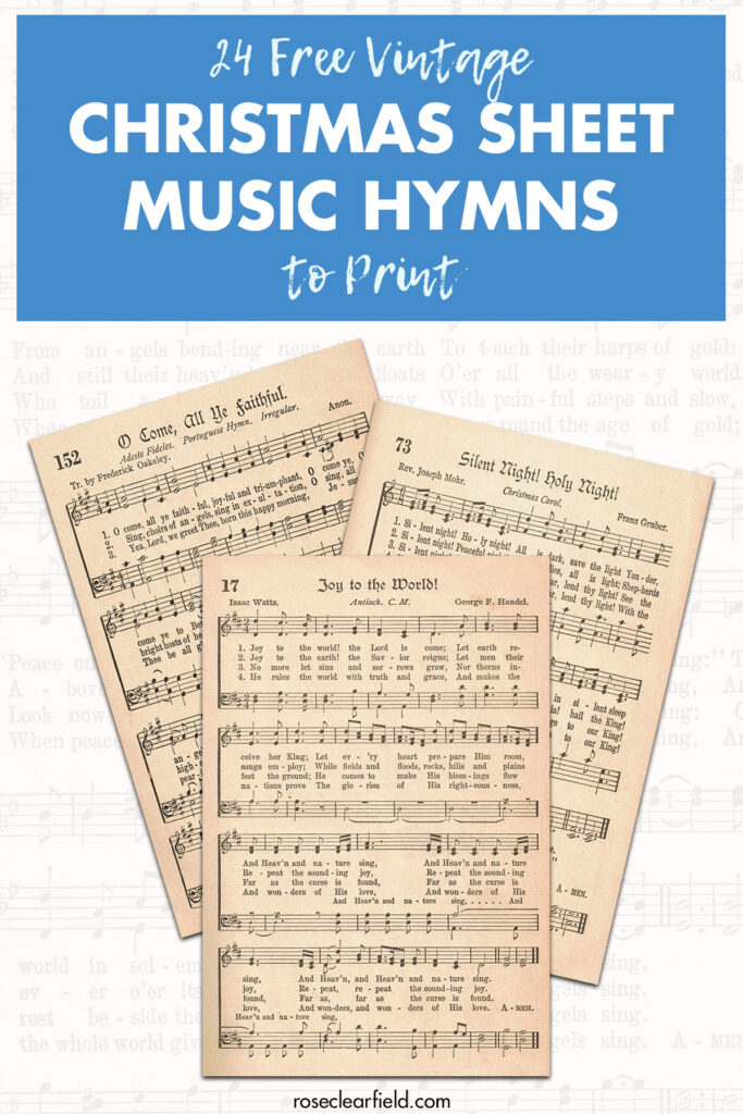 24 Free Vintage Christmas Sheet Music Hymns to Print