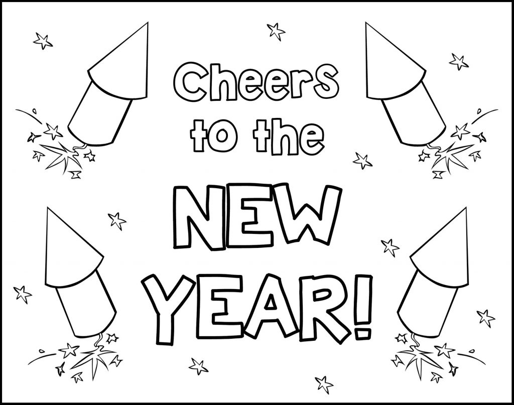 Cheers to the New Year Printable New Year's Eve Placemat