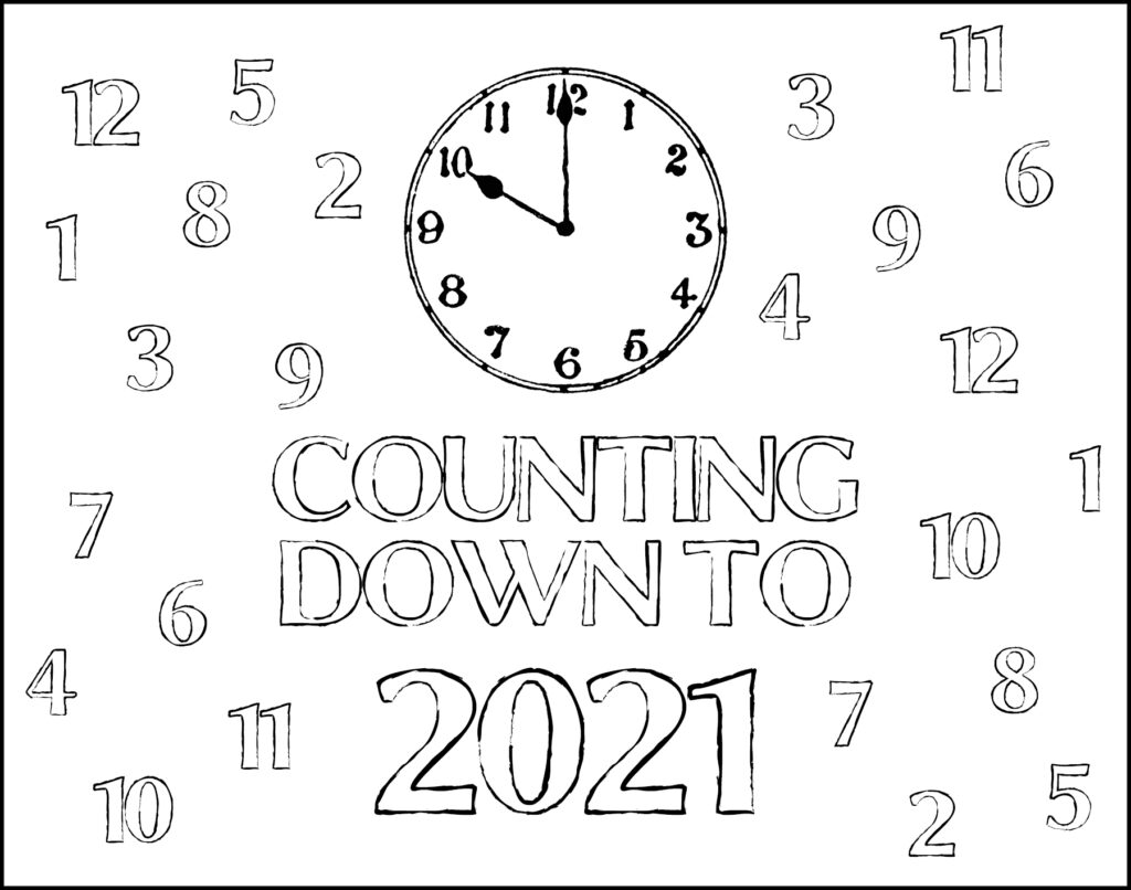 Counting Down to 2021 New Year's Eve Placemat