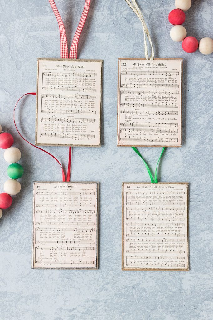 DIY Vintage Christmas Music Ornaments