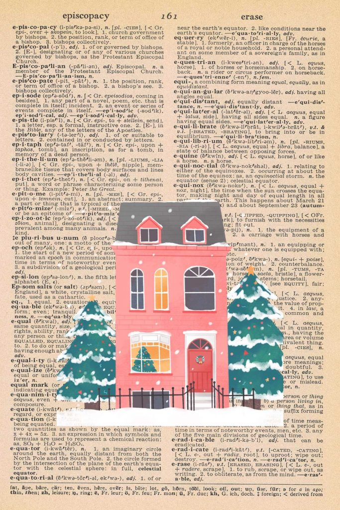Free Christmas Dictionary Page Printable Christmas House Preview